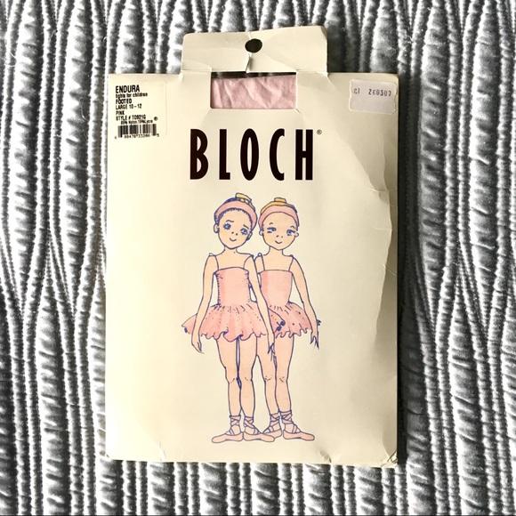 Bloch Endura Footed Tights Nwt